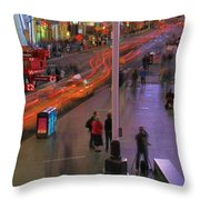 Times Square Throw Pillow by Dan Sproul