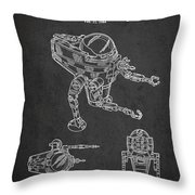Toy Space Vehicle Patent Throw Pillow by Aged Pixel