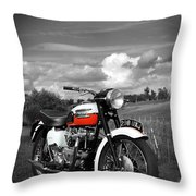 Triumph Bonneville T120 Throw Pillow by Mark Rogan