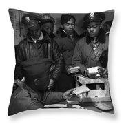 Tuskegee Airmen, 1945 Throw Pillow by Granger