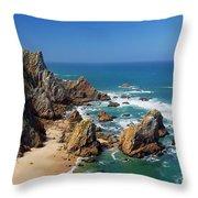 Ursa Beach Throw Pillow by Carlos Caetano