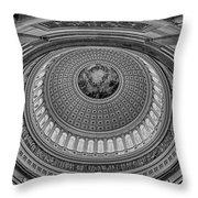 Us Capitol Rotunda Throw Pillow by Susan Candelario