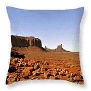 Utah's iconic Monument Valley Throw Pillow by Christine Till