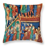 Vikings Invade England 9th Century Throw Pillow by Photo Researchers
