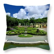 Vizcaya Museum And Gardens Biscayne Bay Miami  Florida Throw Pillow by Amy Cicconi