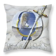 Warriors Triumphant Throw Pillow by Cliff Hawley