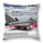 Wars And Rumours Of Wars Throw Pillow by Bible Verse Pictures