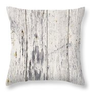 Weathered Paint On Wood Throw Pillow by Tim Hester