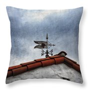 Weathered Weathervane Throw Pillow by Carol Leigh