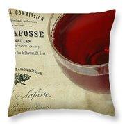 Wine Throw Pillow by Darren Fisher