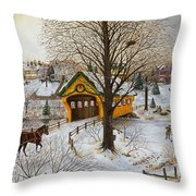 Winter Memories Throw Pillow by Doug Kreuger