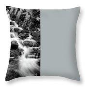 Winter Rapids Throw Pillow by Adrian Evans