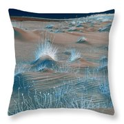 Winters Dunes IIa Throw Pillow by Suzanne Gaff