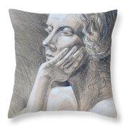 Woman Head Study Throw Pillow by Irina Sztukowski