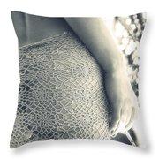 Woman Throw Pillow by Stelios Kleanthous