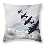 World War Two British vintage flight formation Throw Pillow by Matthew Gibson