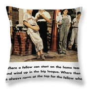 Wwii: Us Poster, 1942 Throw Pillow by Granger
