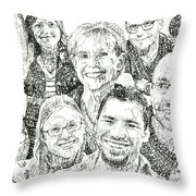 100 Words Why I Am A Christian Throw Pillow by Michael  Volpicelli