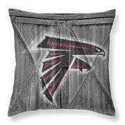 Atlanta Falcons Throw Pillow by Joe Hamilton