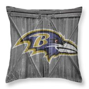 Baltimore Ravens Throw Pillow by Joe Hamilton
