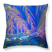 Vitamin C Crystal Throw Pillow by M I Walker