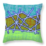 1455 Abstract Thought Throw Pillow by Chowdary V Arikatla