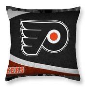 Philadelphia Flyers Throw Pillow by Joe Hamilton