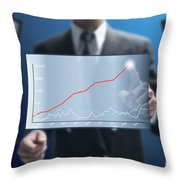 Business Abstract Throw Pillow by Atiketta Sangasaeng