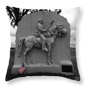 17th Pennsylvania Cavalry Monument Gettysburg Throw Pillow by James Brunker