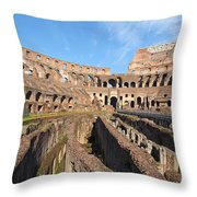 Colosseum In Rome Throw Pillow by George Atsametakis