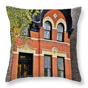 1817 N Orleans St Old Town Chicago Throw Pillow by Christine Till