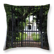 1851 Phillips House Mansion Throw Pillow by Ella Kaye Dickey