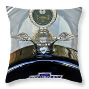 1915 Chevrolet Touring Hood Ornament Throw Pillow by Jill Reger