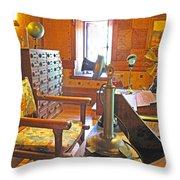 1920's Office Throw Pillow by Barbara McDevitt