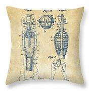 1921 Explosive Missle Patent Vintage Throw Pillow by Nikki Marie Smith