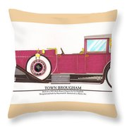 1923 Rolls Royce By Raymond H Dietrich Throw Pillow by Jack Pumphrey