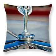 1928 Nash Coupe Hood Ornament 2 Throw Pillow by Jill Reger