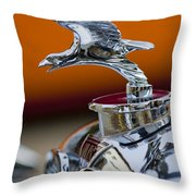 1932 Alvis Hood Ornament 2 Throw Pillow by Jill Reger