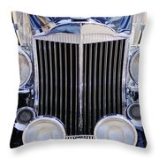 1933 Packard 12 Convertible Coupe Grille Throw Pillow by Jill Reger