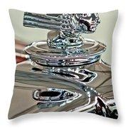 1933 Stutz Dv-32 Dual Cowl Phaeton Hood Ornament 2 Throw Pillow by Jill Reger