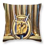 1933 Stutz Dv-32 Five Passenger Sedan Emblem Throw Pillow by Jill Reger