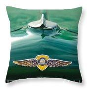 1934 Dodge Hood Ornament Emblem Throw Pillow by Jill Reger