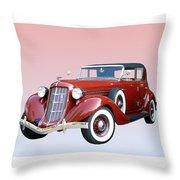 1935 Auburn 8 Phaeton 851 Throw Pillow by Jack Pumphrey