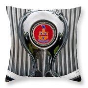 1935 Pierce-arrow 845 Coupe Emblem Throw Pillow by Jill Reger