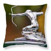 1935 Pierce-arrow 845 Coupe Hood Ornament Throw Pillow by Jill Reger