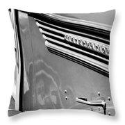 1937 International D-2 Station Wagon Side Emblem Throw Pillow by Jill Reger
