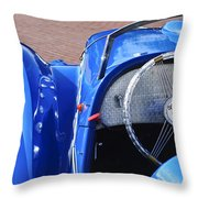 1937 Peugeot 402 Darl'mat Legere Speacial Sport Roadster Recreation Steering Wheel Emblem Throw Pillow by Jill Reger