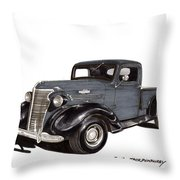 1938 Chevy Pickup Throw Pillow by Jack Pumphrey