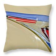1940 Chevrolet Pickup Hood Ornament 2 Throw Pillow by Jill Reger