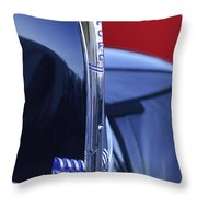 1940 Ford Hood Ornament 2 Throw Pillow by Jill Reger